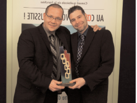 2008 - Franchisee of the year, One point of sale - J.F. St-André and J. Thériault - VitroPlus/Ziebart franchisee, Joliette